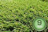 Stadion Kunstrasen Rasenteppich 32mm grün Meterware, verschiedene Größen, 2m 3m 4m 5m,wasserdurchlässig, extreme UV-Beständigkeit (500 x 500 cm)