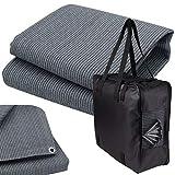 Vorzeltteppich + 6 Heringe + Tasche - 250x500 GRAU-BLAU - Zeltteppich Zeltunterlage Outdoor Camping Vorzelt Campingteppich Vorzeltboden