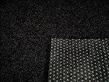 Rasenteppich Kunstrasen Premium schwarz grau Weich Meterware (400x300 cm)