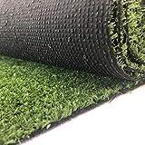 Carpeto Rugs Kunstrasen Rasenteppich für Garten Balkone Terrassen Wintergärten - Höhe: 7 mm Meterware Wasserdurchlässig 300 x 300 cm Grün