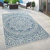 Paco Home In- & Outdoor-Teppich, Für Balkon Und Terrasse Mit Orient-Muster, In Blau, Grösse:160x220 cm