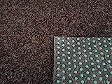 Rasenteppich Kunstrasen Premium dunkelbraun Velours Weich Meterware, verschiedene Größen, mit Drainage-Noppen, wasserdurchlässig (400x100 cm)