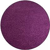 Shaggy Teppich Eco rund - Farbe wählbar   schadstoffgeprüft pflegeleicht schmutzresistent robust strapazierfähig Wohnzimmer Kinderzimmer Schlafzimmer Küche Flur, Farbe:Silber, Größe:100 cm rund
