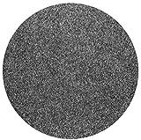 havatex Rasenteppich Kunstrasen mit Noppen 1550 g/m² rund - Anthrazit, Blau, Rot, Braun, Grau oder Beige | wasserdurchlässig | Balkon Terrasse Camping, Farbe:Anthrazit, Größe:100 cm rund