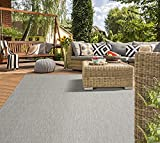Mia´s Teppiche 'Lara' In- & Outdoor Teppich, Flachgewebt, 80x150 cm, Grau