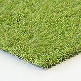 Steffensmeier Kunstrasenteppich Springfield | Outdoor für Terrasse und Balkon | wasserdurchlässig mit UV-Garantie | Meterware, Größe: 300x300 cm