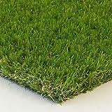 Steffensmeier Kunstrasen Rasen Teppich Florida | für Garten und Balkon | wasserdurchlässig mit UV-Garantie | in Grün, Größe: 500x550 cm