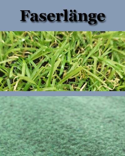 Rasenteppich Vergleichsmöglichkeiten: Die Faserlänge